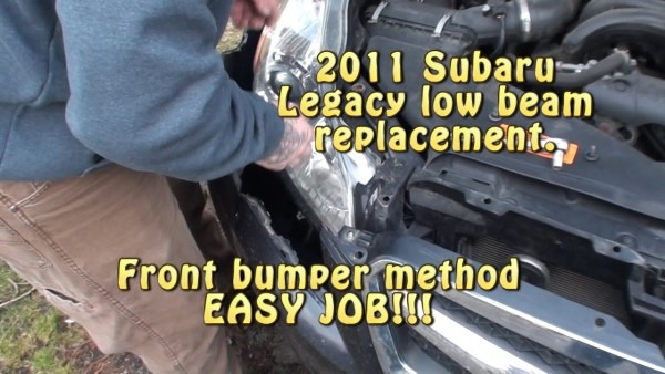 2011 Subaru Legacy Low Beam Headlight Replacement  Front Bumper