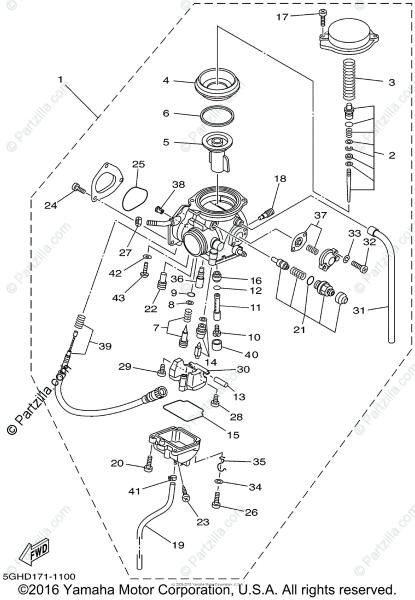 Yamaha Atv 2002 Oem Parts Diagram For Carburetor