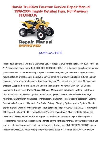 05 400ex Service Manual Pdf