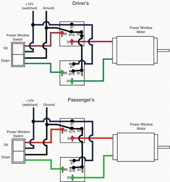 Power Window Wiring Diagram Electric Life Power Window Wiring