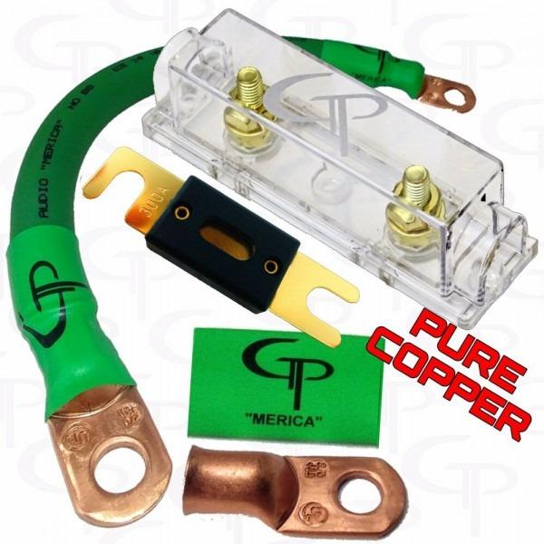 200 Amp Anl Fuse Holder Inline Block Battery Install Kit 2 0 Awg