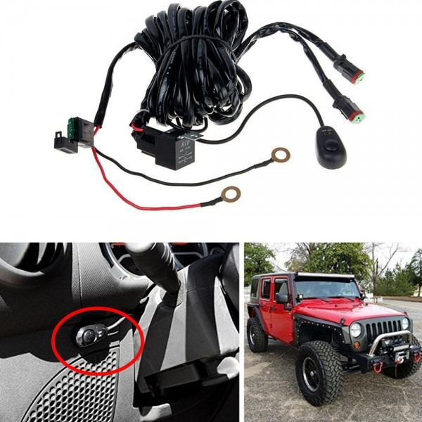 Off Road Light Bar Wiring Harness Kit 12v 40a Relay 2lead For