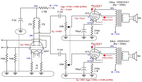 6v6 Amplifier Schematic