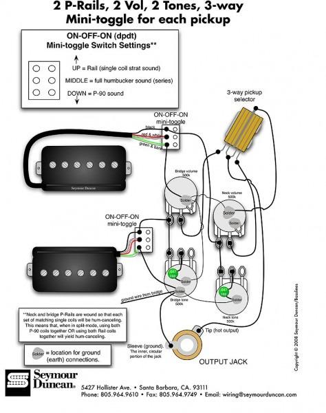 P 90 Wiring Diagram Single Pickup