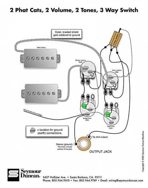 Jazz Bass Wiring Diagram 2 Volume 2 Tone from www.tankbig.com