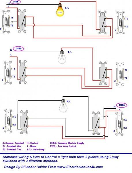 2 Way Switch Wiring Methods