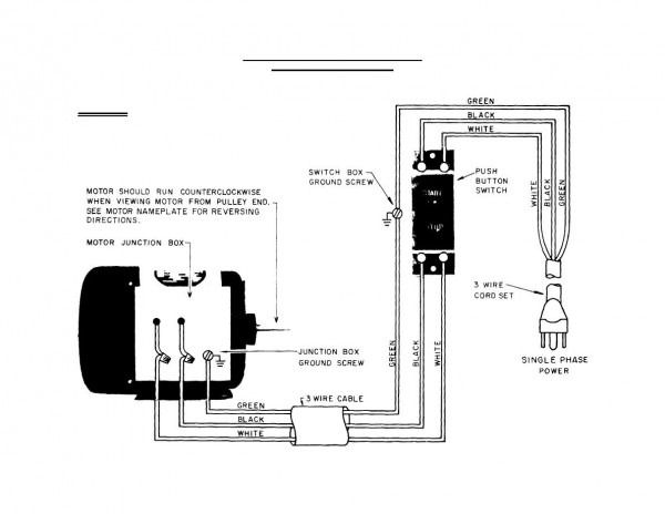 Single Phase Motor Wiring Diagram For A Switch
