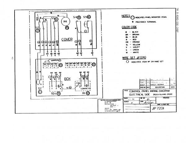 Control Panel Wiring Diagram
