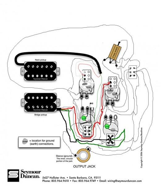 Seymour Duncan Wiring Schematic