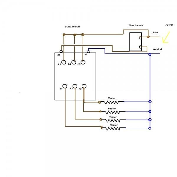 A1 A2 Contactor Wiring Diagram