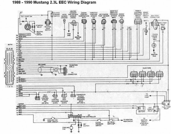 1988 Ford Mustang Wiring Diagram