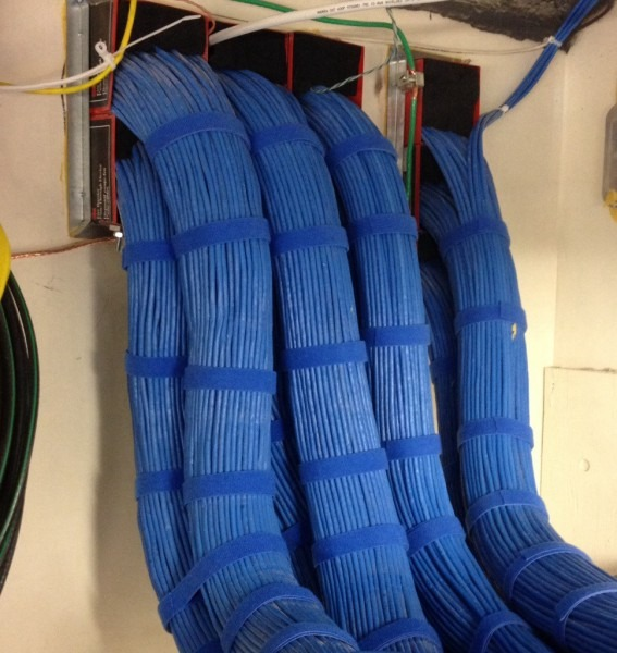 1300 Station Cables That I Dressed Coming Into The Idf    Cableporn