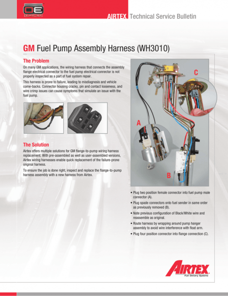 Gm Fuel Pump Assembly Harness (wh3010)