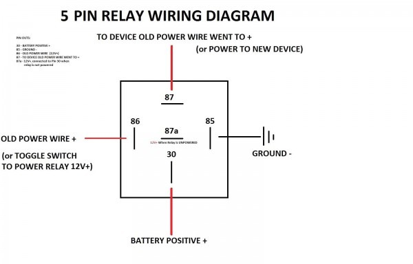 12v 30a Relay Wiring Diagram