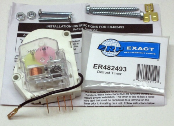 Wp482493 For Whirlpool Refrigerator Defrost Timer Control Ps376605