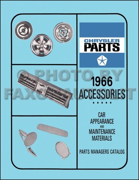 1966 Mopar Accessories Parts Book Reprint