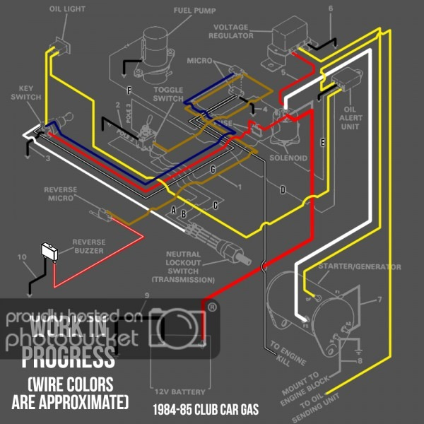 Wiring Diagram For A Gas 1985 Club Car Ds