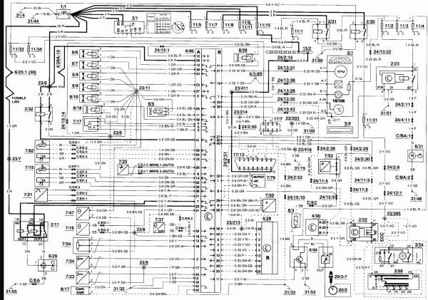 Engine Diagram For 1995 Volvo 850