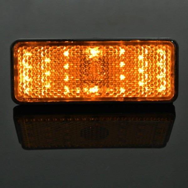 2019 1 Amber Led Rectangle Reflector Turn Signal Light Universal