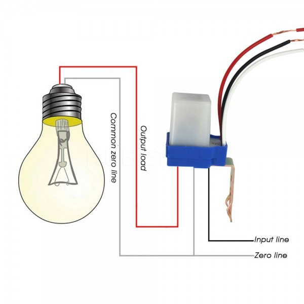 1pcs Automatic Auto On Off Photocell Street Light Switch Photo