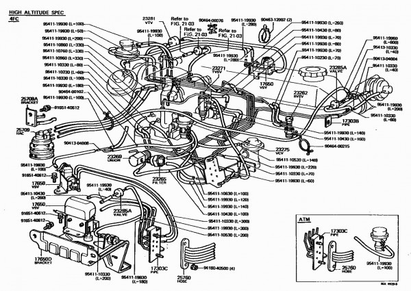 1997 Toyota T100 Engine Vacuum Diagram