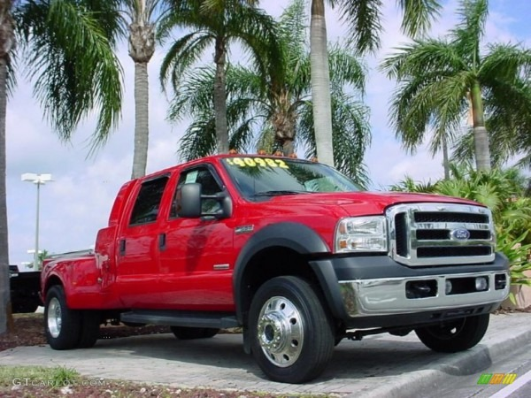2007 Red Ford F550 Super Duty Lariat Crew Cab Dually  25752089