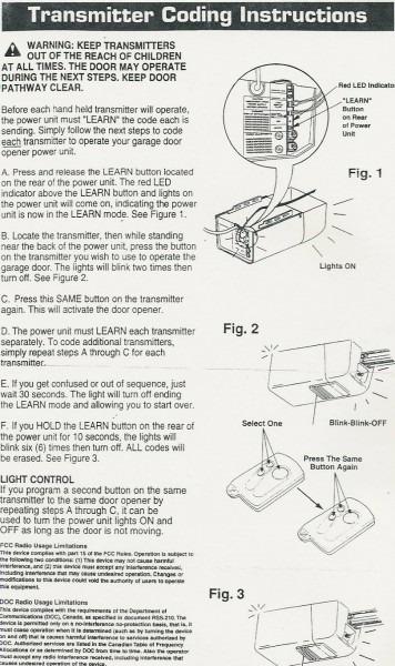 Popular Mechanics Compatible Garage Door Opener Parts