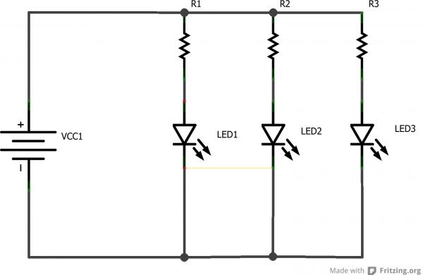 Lights In Parallel Diagram