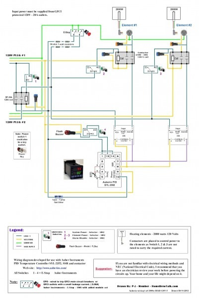 120v Dual Element Wiring Diagram
