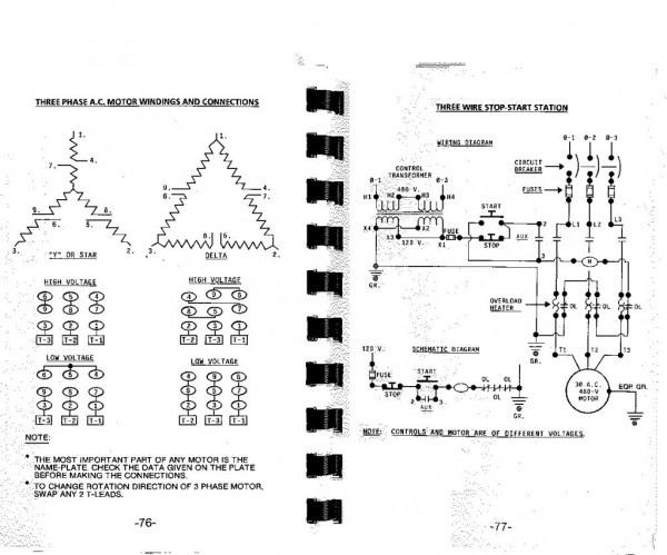 208v 3 phase wiring