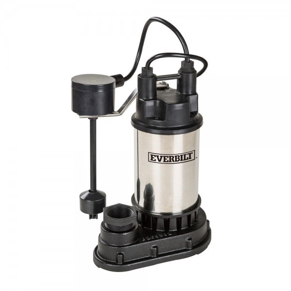 Everbilt 1 3 Hp Stainless Steel Submersible Sump Pump Sp03302vd