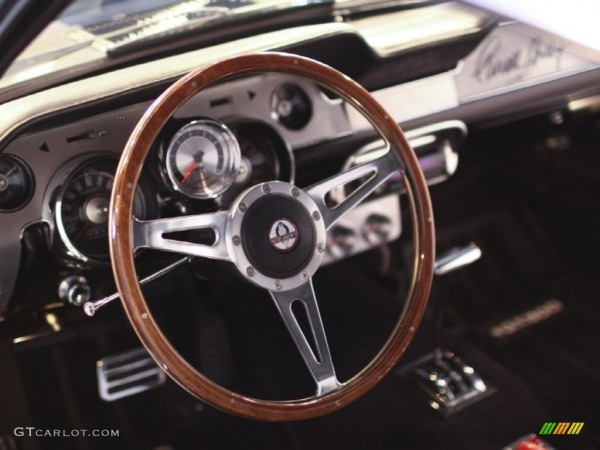1967 Ford Mustang Shelby G T 500 Eleanor Fastback Black Steering