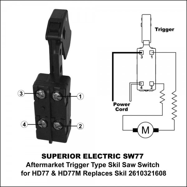 Superior Electric Sw77 Aftermarket 20 Amp Trigger On
