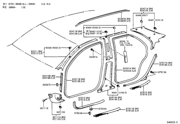 Toyota Door Parts &