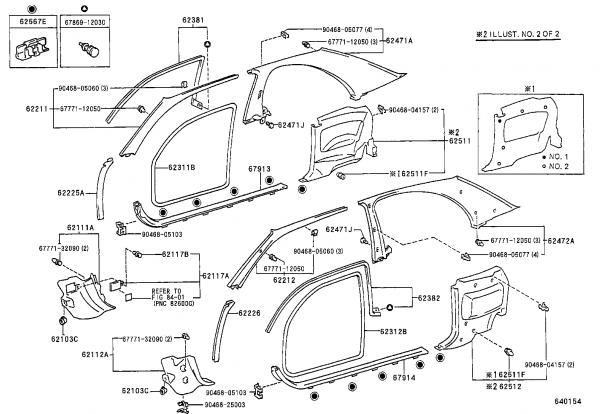 2007 Toyota Camry Body Parts Auto Parts Diagrams