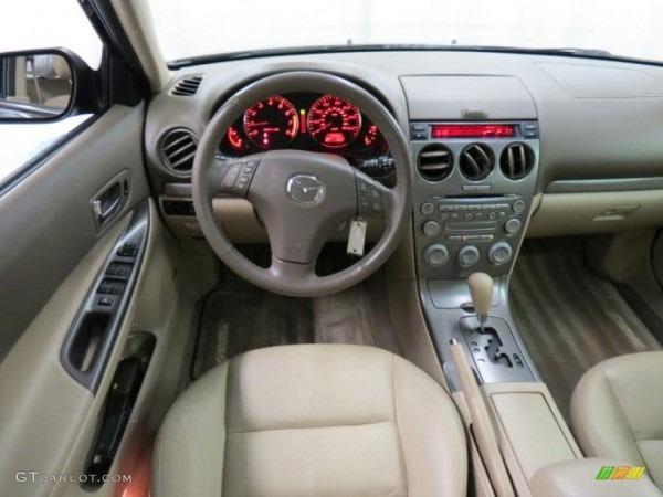 Beige Interior 2004 Mazda Mazda6 S Sport Wagon Photo  68407874