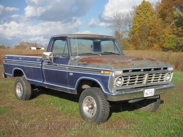 1973 F250 Highboy 360 4 Speed Custom Blue