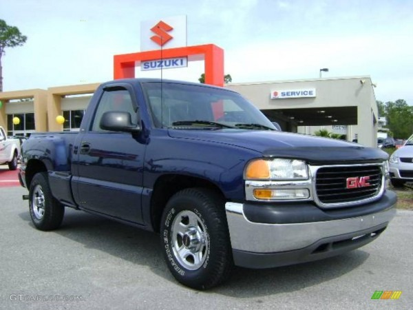 2000 Indigo Blue Metallic Gmc Sierra 1500 Sl Regular Cab  7479660