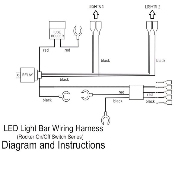 5 Pins Led Light Bar Driving Switch Relay Rocker Wiring In
