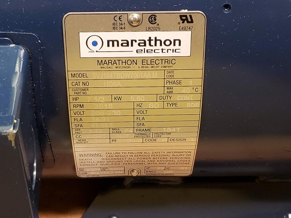 Marathon Motors Air Compressor Motor, 7