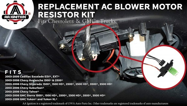 Amazon Com  Ac Blower Motor Resistor Kit With Harness
