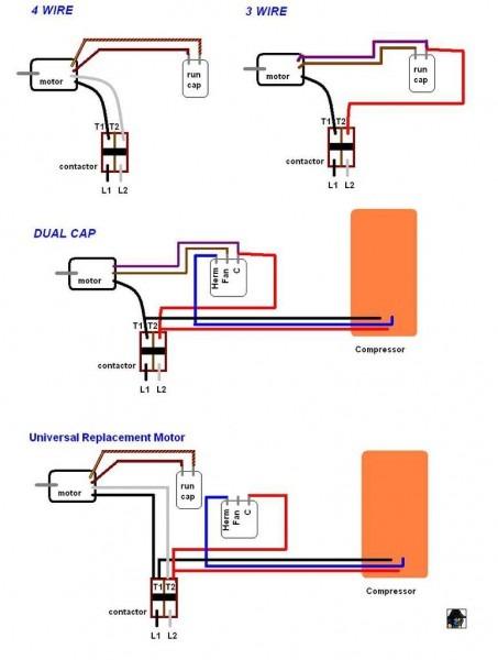 Motor Capacitor Wiring
