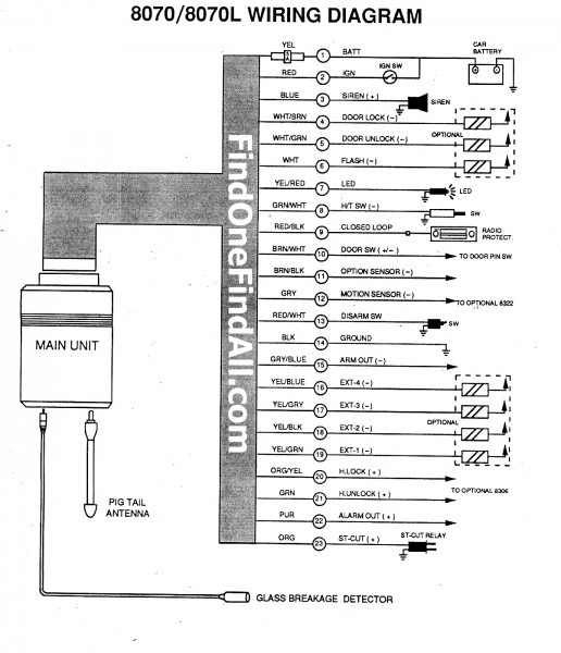 Looking For The Wiring Diagram For The Alpine 8070 Security Alarm