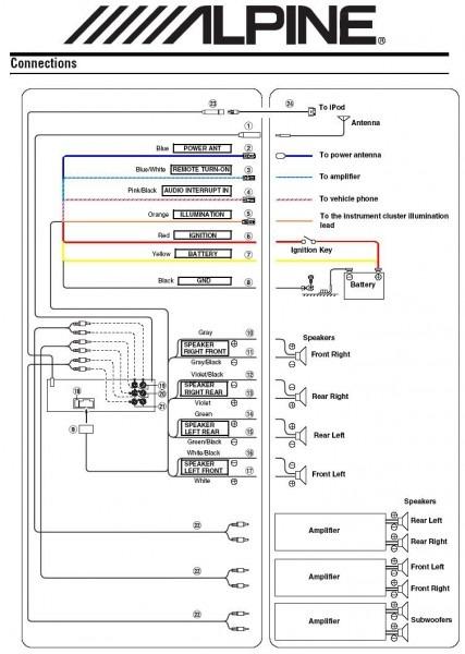 Alpine Speakers Wiring Diagrams