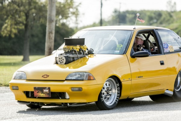 A Humble Geo, Souped Up For Drag Racing