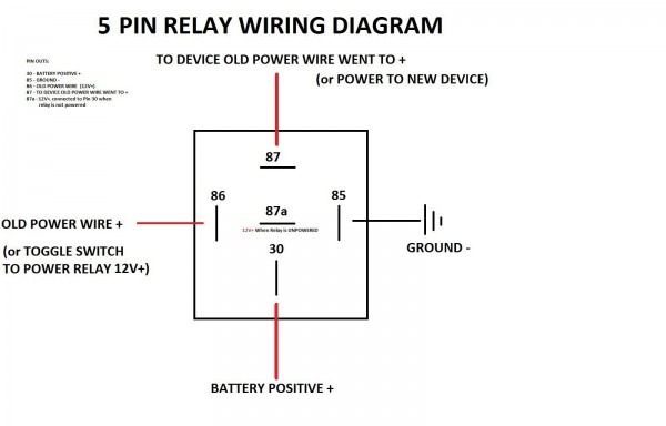 Bosch Style Relay Wiring Diagrams