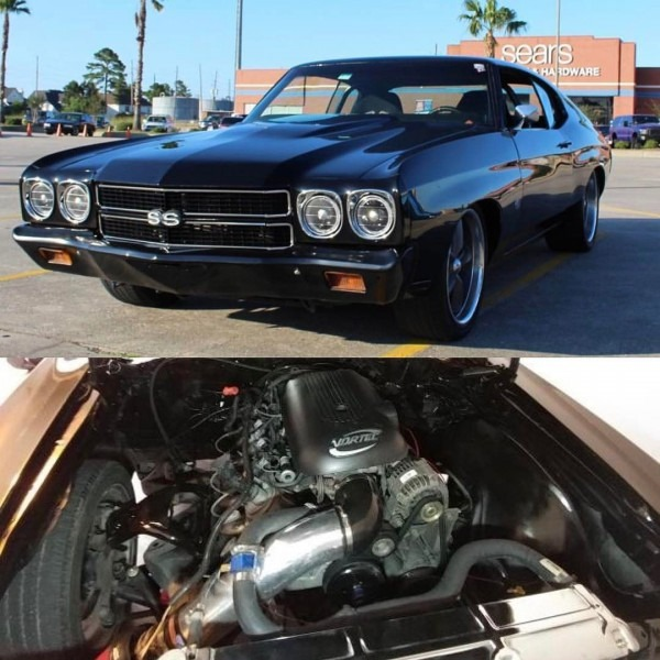 70 Chevelle  Becausess Black With Painted Bumpers Ss Lq9 Lq4 5 3