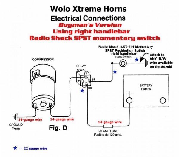 12 Volt Air Horn Wiring Diagram