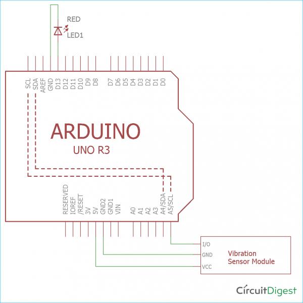 Arduino Vibration Sensor Tutorial