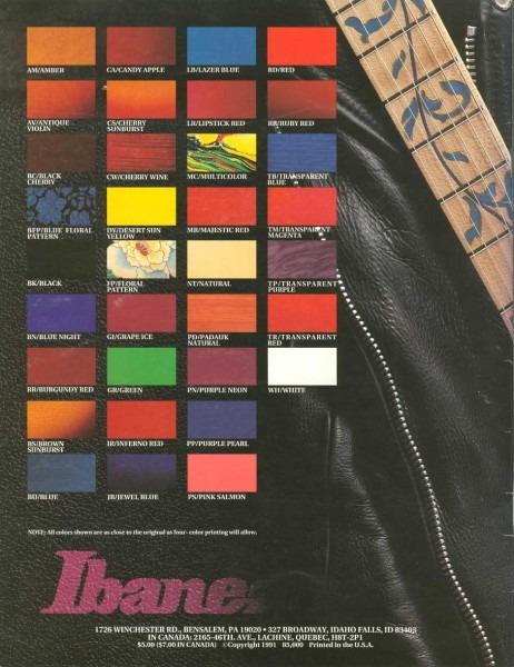 Ibanez Rules 1991 Us Catalog